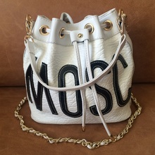 2016 Fashion Female Appliques Letter Bucket Bag Designer Famous Brand Luxury Bags Women PU Leather Handbags Free Shipping CB91