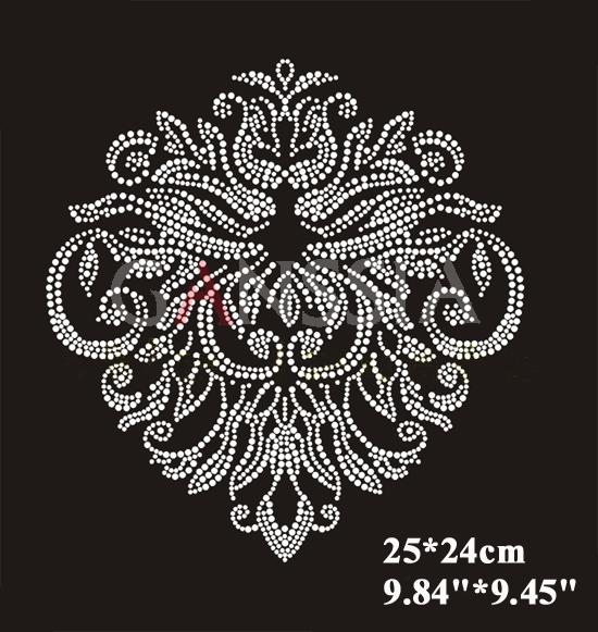 Fashion crown flower pattern hotfix rhinestone Heat transfer motif rhinestone Embellishment garment accessories (ss-k4316)(China (Mainland))