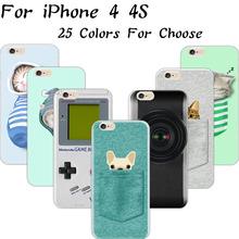 Шаблон Crackpot люди мешок ткани кот сна мягкого кремния сотовый телефон чехол для Apple iPhone 4 iPhone 4S iPhone4S чехол оболочки покрытия