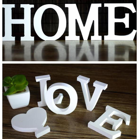 Wedding Decorations Wooden Letters White Wood Alphabet decoration romantic mariage Birthday Party Decoration(China (Mainland))
