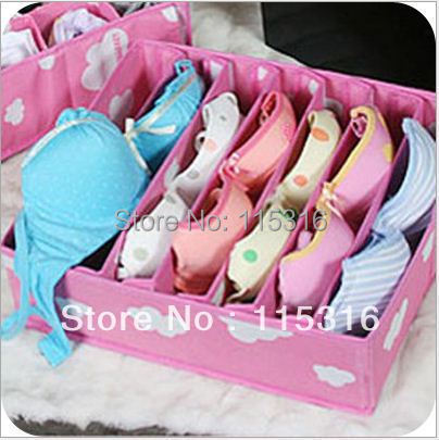 [Bra box]Free shipping!!! 1PCS/lot High quality 7* Bra box Storage Organizer Box Set Underwear Bras Socks Ties