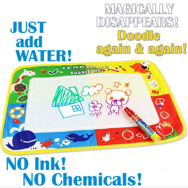 46x30cm 4 color Water Drawing Toys Mat Aquadoodle Mat&1 Magic Pen/Water Drawing board/baby play mat(China (Mainland))