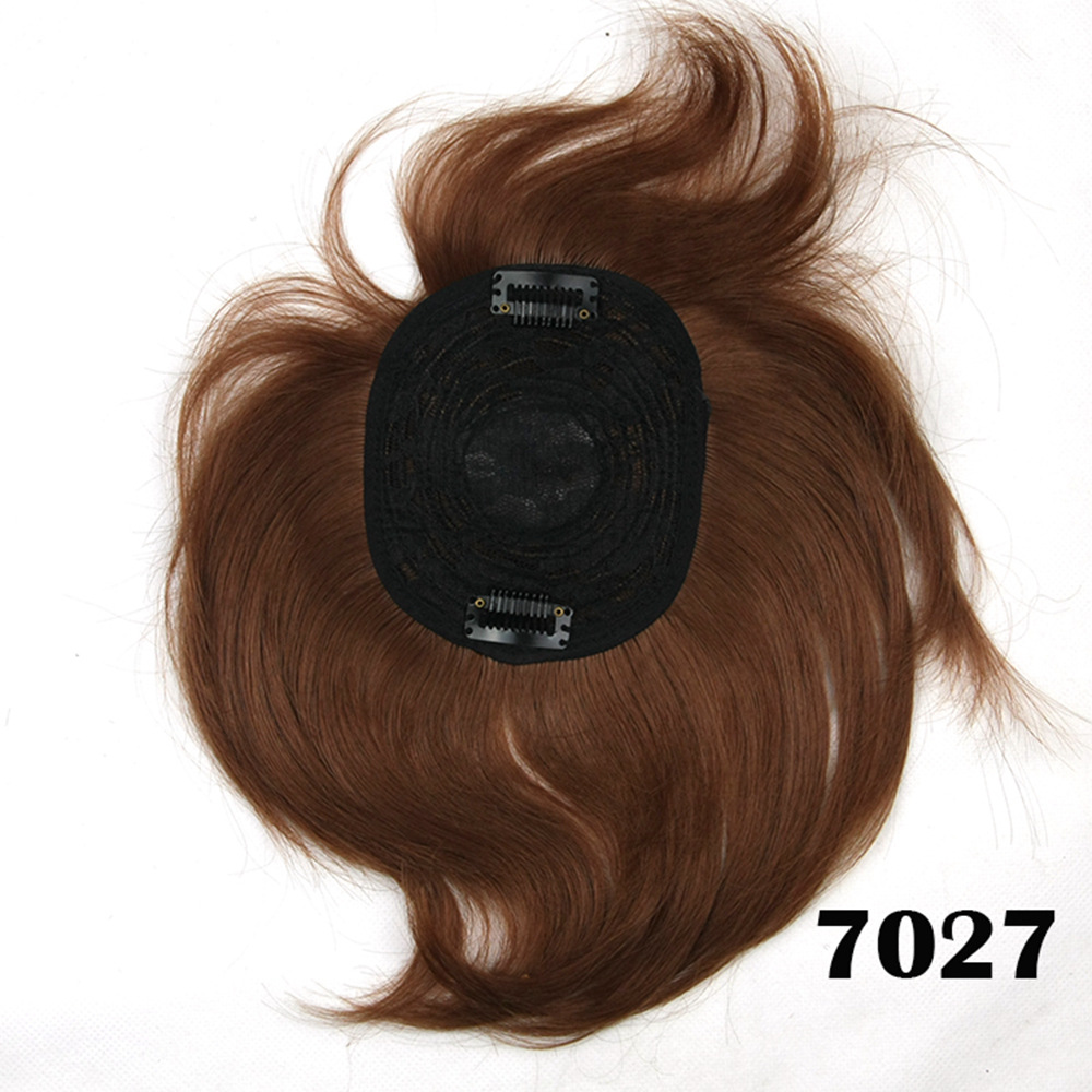 Cheap Clip in Toupee Hairpieces Short High Temperature Fiber Synthetic Straight Hair Women Lace Toupee Extensions