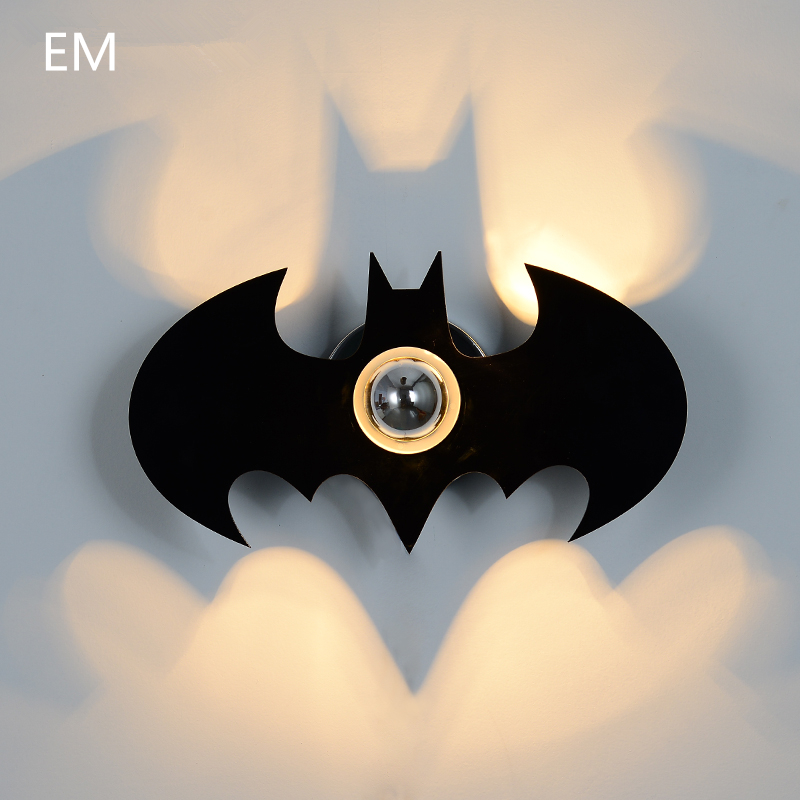 Freeshipping new Acryl Fashion Black BATMAN Shadow Led Wall Light E27 for Bedroom led wall sconce night light gift Stairs light<br><br>Aliexpress