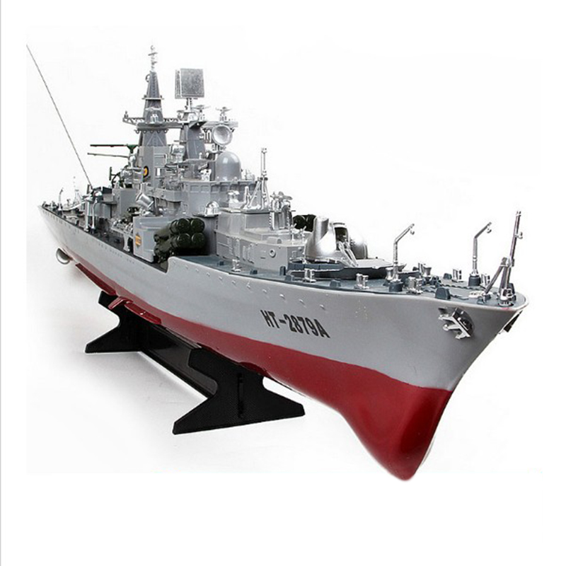 HT-2879A RC Guided Missile Destroyer Model Electric RC Boat Large Military Model Toys & Gifts Wholesale is CHEAPER(China (Mainland))