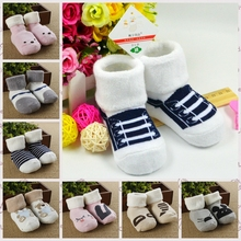 Hot sale Winter/autumn 0-2 year baby boy/baby girl socks toddler's socks baby infants wear S1208(China (Mainland))