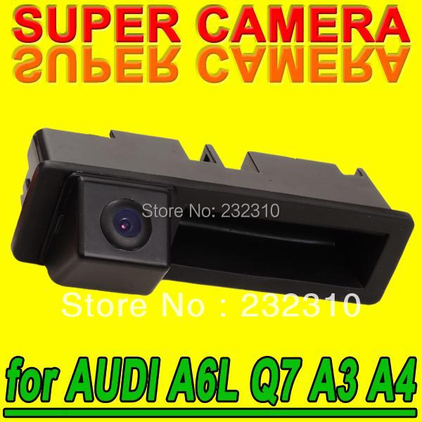 Hot car rearview back up parking reverse camera for Audi A6L Q7 A3 A4 waterproof high-solution NTSC PAL( Optional) for GPS Radio(China (Mainland))