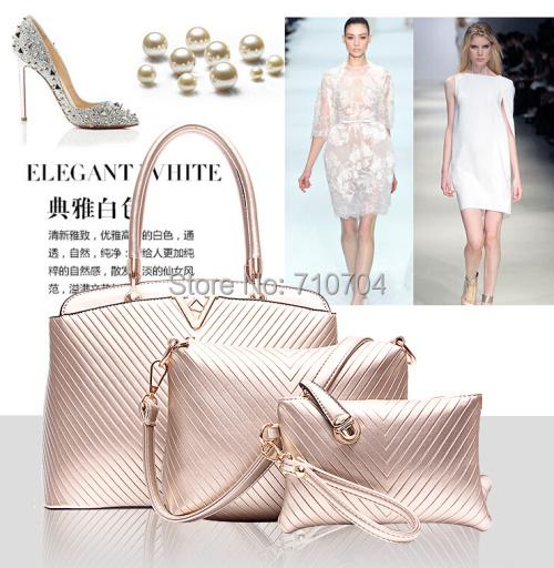 Fashion combination handbags women Buy one, get two high-grade leather handbags bags handbags women famous brands free shipping(China (Mainland))