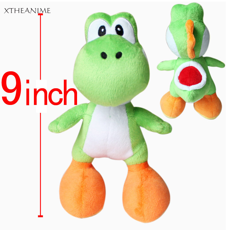 Nintendo Super Mario Brothers Bros Green Yoshi 9 inch Stuffed Toy Kids Plush Doll anime soft Movie&TV collection baby doll - Bechan store