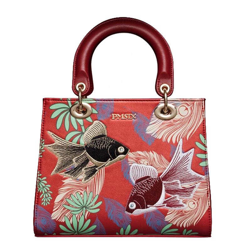 Фотография Pmsix 2015 Famous Brand Genuine Leather Women Bag Fashion High Quality Women Totes Handbag Women Animal Prints Top-Handle Bags