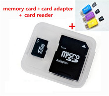 Free shipping New arrival TF card Memory Card/ Class6-10 128M 256M 2GB-128GB mp3 mp4 Micro sd card+adapter free card reader  T2(China (Mainland))