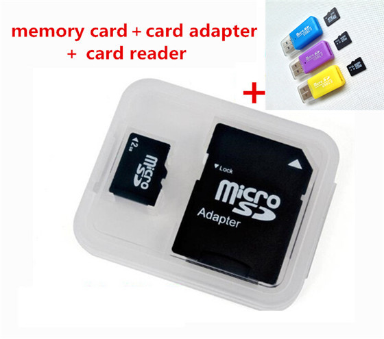 New arrival TF card Memory Card/ Class6-10 128M 256M 2GB-128GB mp3 mp4 Micro sd card+adapter free card reader T2(China (Mainland))