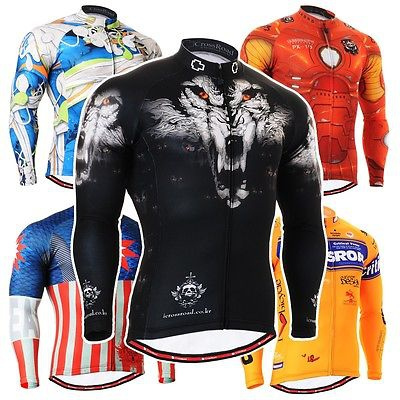 Men's Technical Long-Lasting Graphic Cycling Jersey Comfortable-fitting MTB Road Bike Bicycle Tops Shirts