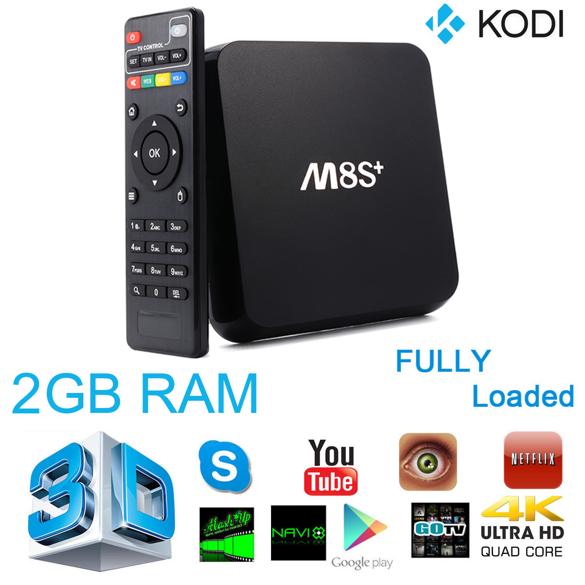M8S Plug/M8S+ Smart Android 5.1 TV Box Amlogic S812 4K Quad Core 2.4G 5G Wifi Lan 2G/8G Bluetooth 4.0 Kodi Media Player AH126(China (Mainland))