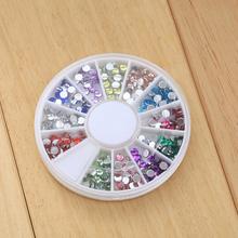 Girls Round Resin Nail Art Sticker Wheel 3D Glitter Rhinestones Nail Design  Decoration Manicure Supplies Accessories Hotsale