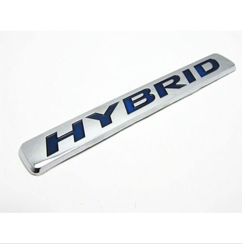 Wholesale Price high quality New 3D Car styling Auto Truck Badge Emblem Tailgate Side Sticker Hybrid Chrome Free shipping(China (Mainland))