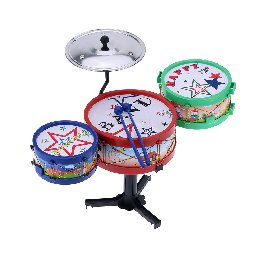 Children Gift Happy Small Jazz Drum Toy Kids Electronic Plastic Drum Toy Jazz Drum Simulation Musical Instrument Toy(China (Mainland))