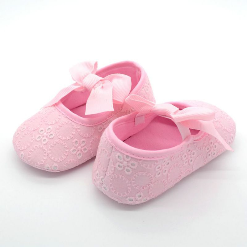 Cute Baby Girls Cotton Bow-knot First Walkers Infant Soft Sole Solid Shoes 5 Colors<br><br>Aliexpress