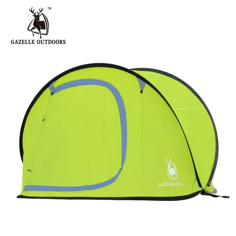 Emblem antelope outdoor tent Double bunk 3-4 people camping equipment rainproof family boat automatic tent tent<br><br>Aliexpress