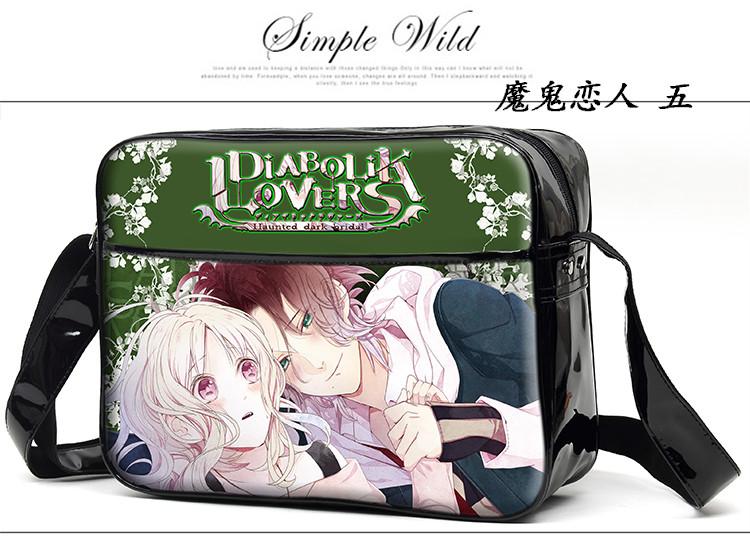 DIABOLIK LOVERS PU Messenger Bag Cartoon Unisex Shoulder Bags Free Shipping