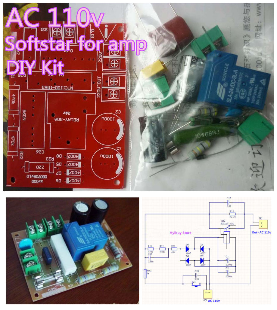 AC110v-120v Soft starting Softstart Switch for HIFI Power Amplifier DIY Kit(China (Mainland))
