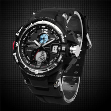 Free shipping Hot hwatch Men's sports watch, LED display Shock Resistant watch, With Date Calendar,30 meters waterproof watches