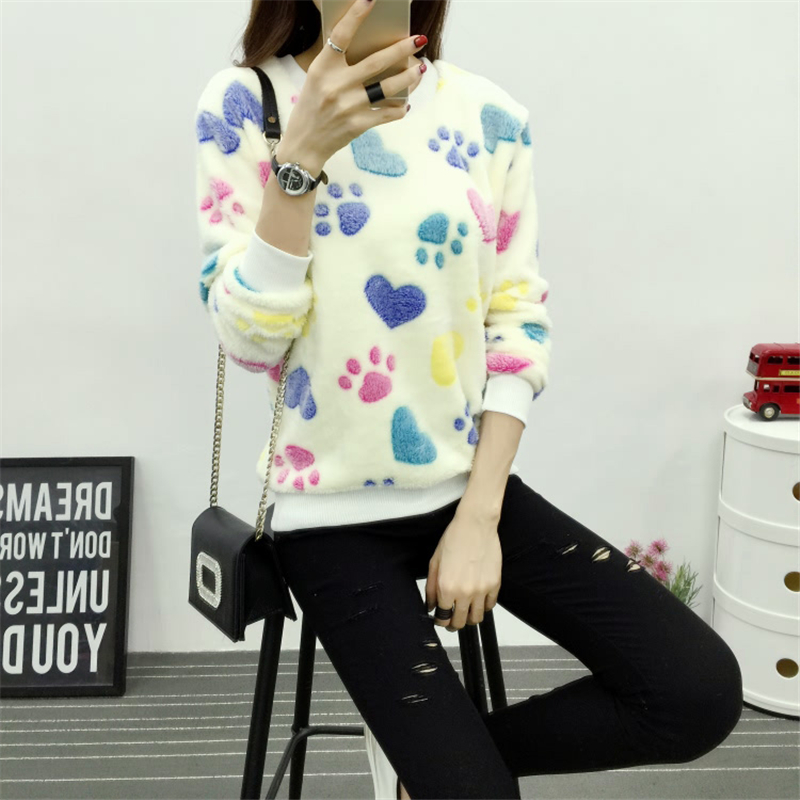 Cute Pattern velvet warm sweater women Pullover Winter Sweaters 2015 fashion Jersey Mujer Womens Jumpers Christmas Sweater(China (Mainland))
