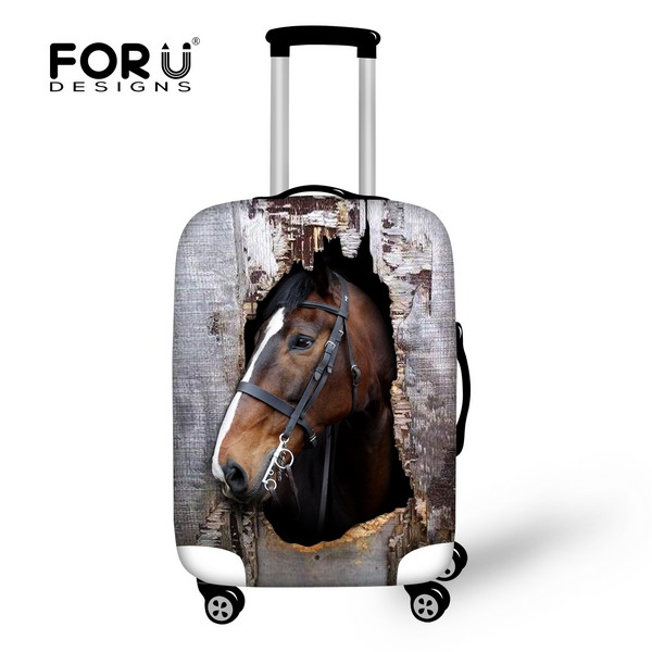 Hot 3D Horse/Donkey Elastic Waterproof Travel Luggage Sets Protective Cover For 18-30 Inch Suitcase Dust Rain Covers Accessories(China (Mainland))