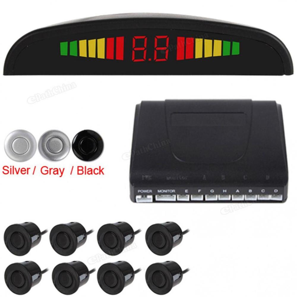 Car Parking Sensor Color LED Display Reverse Backup Radar System 8 Sensors 3 Colors Options - AliBest Emall-Brand Electronics store
