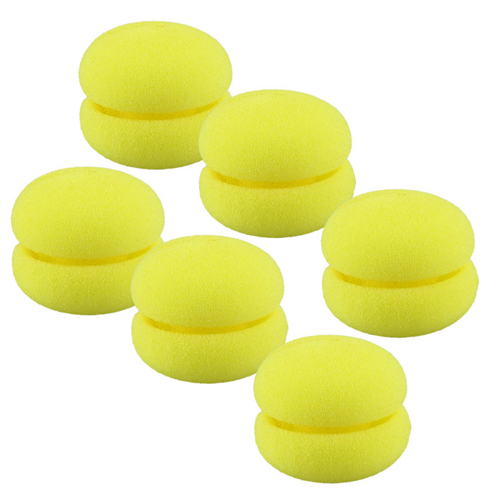 GRACEFUL 6pcs/lot Magic Beauty Soft Sponge Hair Care Foam Balls Universal Hair Curler Fashion Cute Hair Rollers JUL20