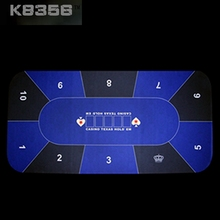 New Arrival 90*180cm Rubber 10 Players Texas Hold'em Poker Rotary Baccarat Poker Set Fichas Poker Blackjack 21 Table Cloth(China (Mainland))