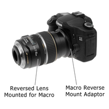 High Quality 52mm Macro Reverse Lens Adapter Ring for CANON EOS EF Mount Camera Black