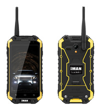 iMAN IP68 Waterproof Tri-Proof 2GB+32GB MTK6592 1.57GHz Octa Core 3G Android GPS Rugged Cell Phone Intercom Mobile Walkie Talkie