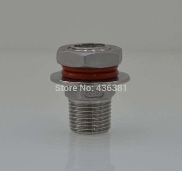 "Homebrew Hardware Kettle/Keg Weldless Bulkhead,close nipple for home brew,1/2""(China (Mainland))"