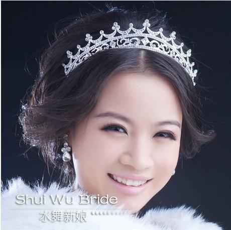 Free Shipping!Water princess elegant rhinestone bride fashion crown hair accessory hair jewelry Wedding tiaras crown HG023(China (Mainland))