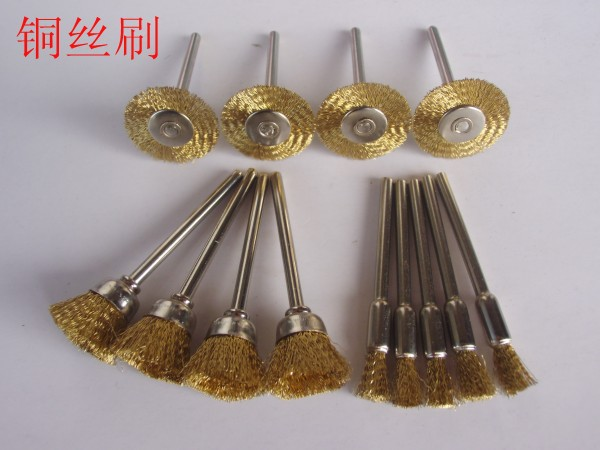 15PC Wire Brass Brush Brushes Wheel Dremel Accessories for Rotary Tools<br><br>Aliexpress