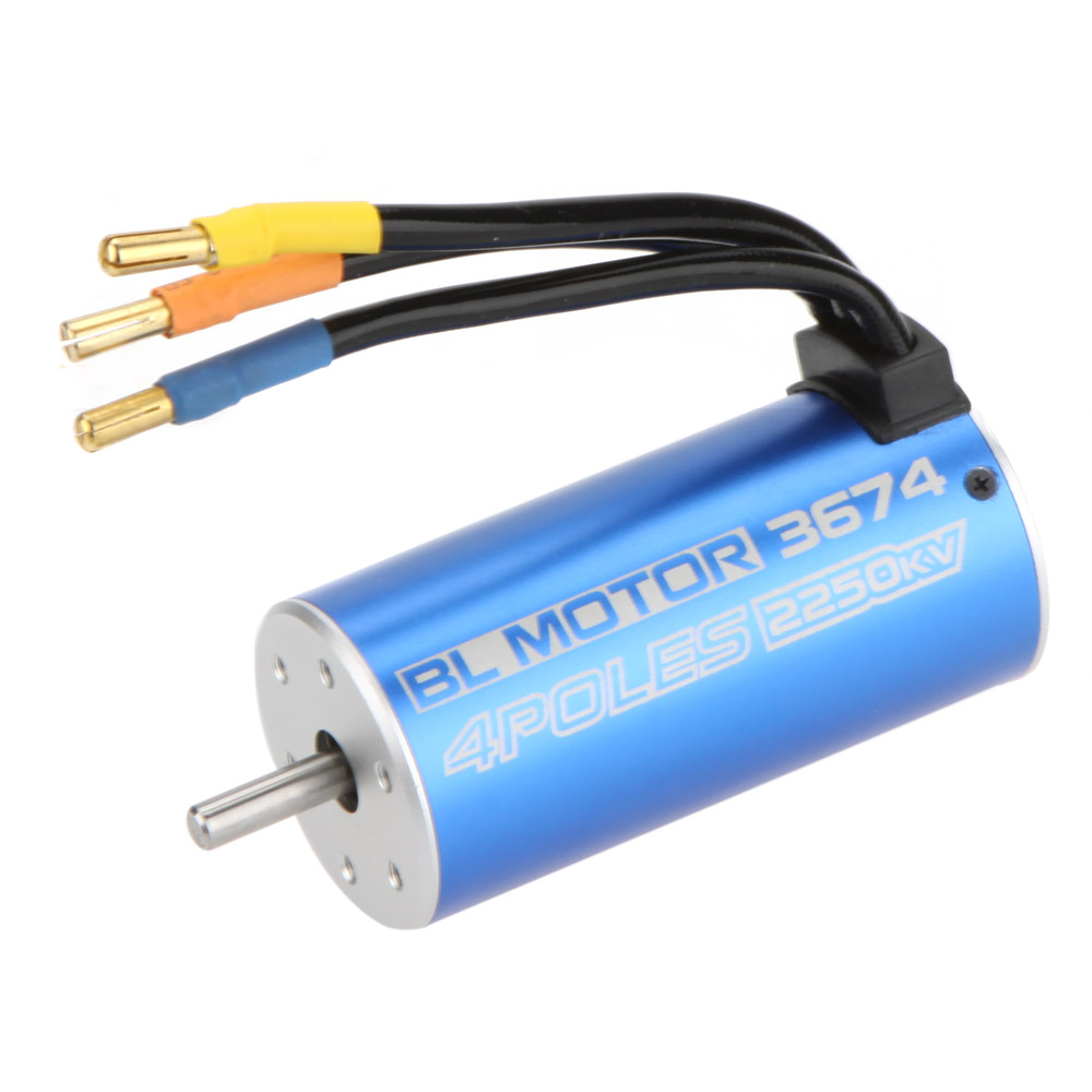 100% New 3674 4Poles 2250KV Brushless Motor for RC 1/8 Truck Car Boat toys Part(China (Mainland))