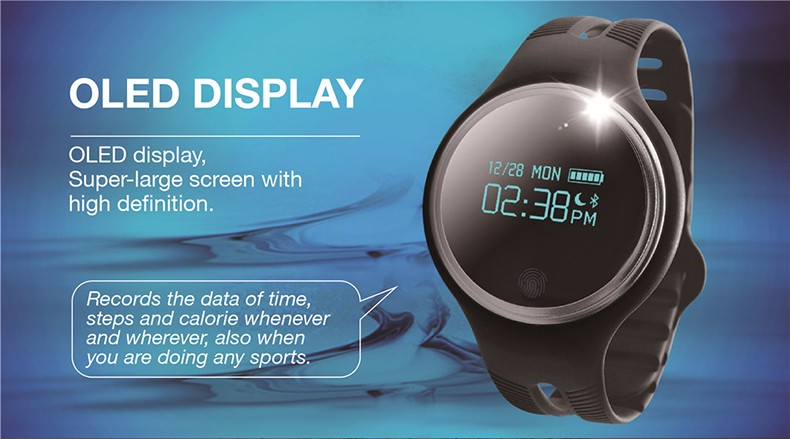 image for New  Smart Band E07 Smartwatch IP67 Waterproof Swimming Bluetooth 4.0