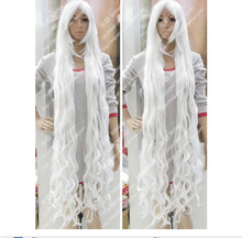 150CM Anime price white Heat-Resistant curly cosplay full WIG queen women's Cosplay hair wigs fast deliver