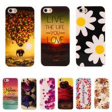Мода цветок мультфильм шаблон резиновые тпу мягкий чехол для Apple iphone 5 / 5S мобильный телефон защитный чехол для iPhone5 5S