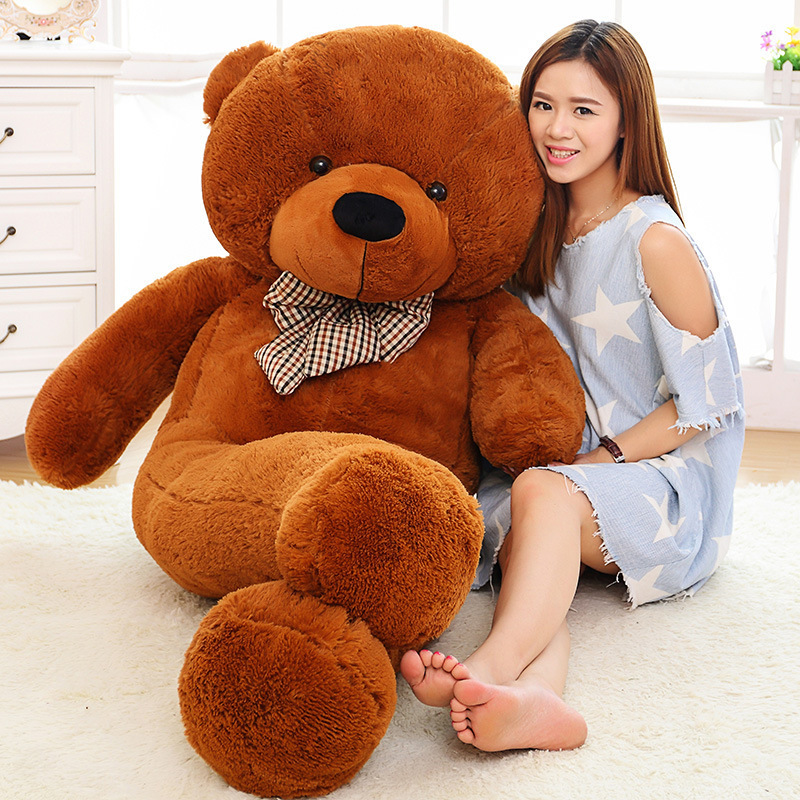 Free Shipping 5KG 220CM large giant stuffed teddy bear animals kid baby dolls life size teddy bear girls toy 2016 New arrival(China (Mainland))
