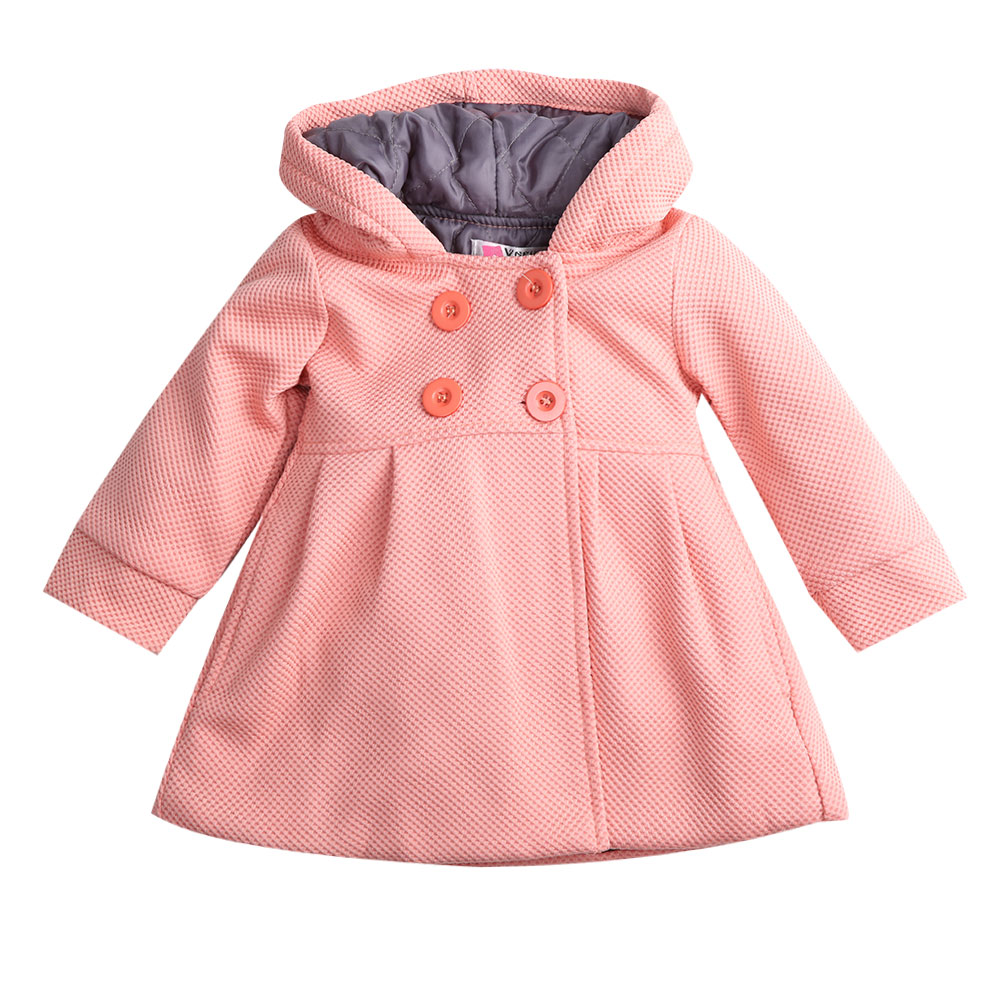 2015 New Baby Toddler Girls Fall Winter Horn Button Hooded ...