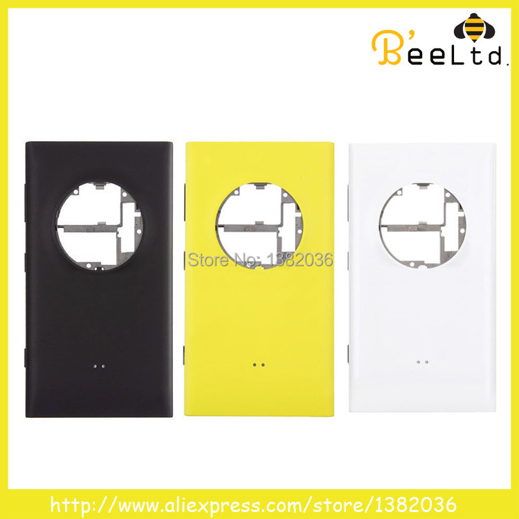 100% New Original Battery Door Rear Back Cover Full Housing with Charging Port for Nokia Lumia 1020 white black yellow(China (Mainland))