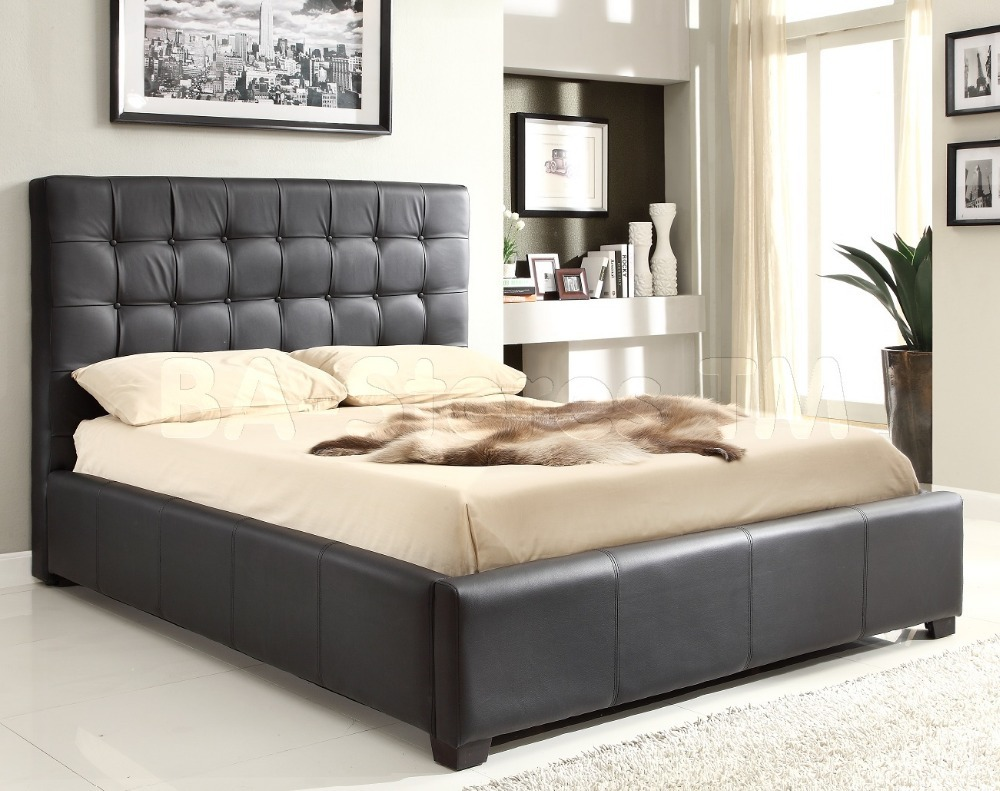 free shipping lb1006 leather bedroom