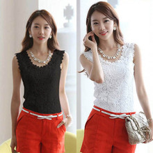 Fashion Women Ladies Lace Floral Camisole Strap Solid Tank Vest Tops Blouse Shirt Summer