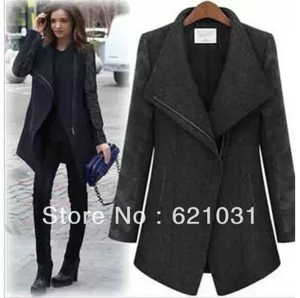 Black Cashmere Coat Women | Down Coat