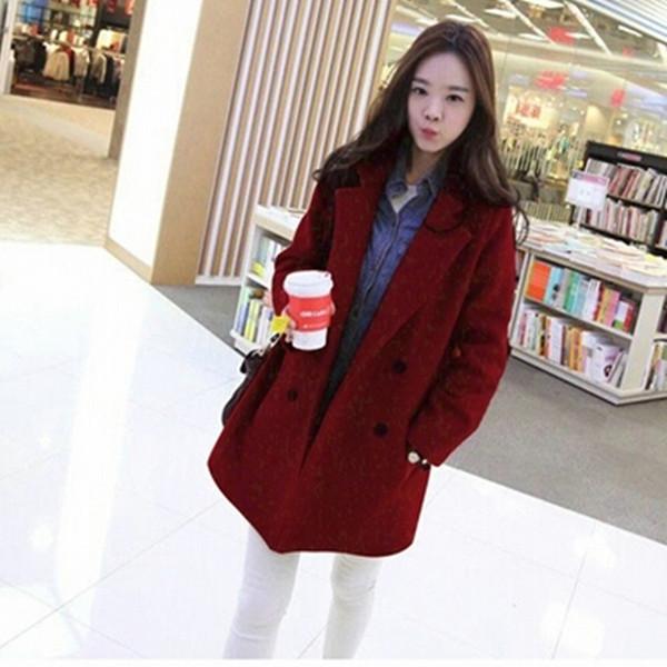 Winter wool jacket 2015 fashion Korean winter women slim woolen coats plus size double-breasted female long winter coat Q391Одежда и ак�е��уары<br><br><br>Aliexpress