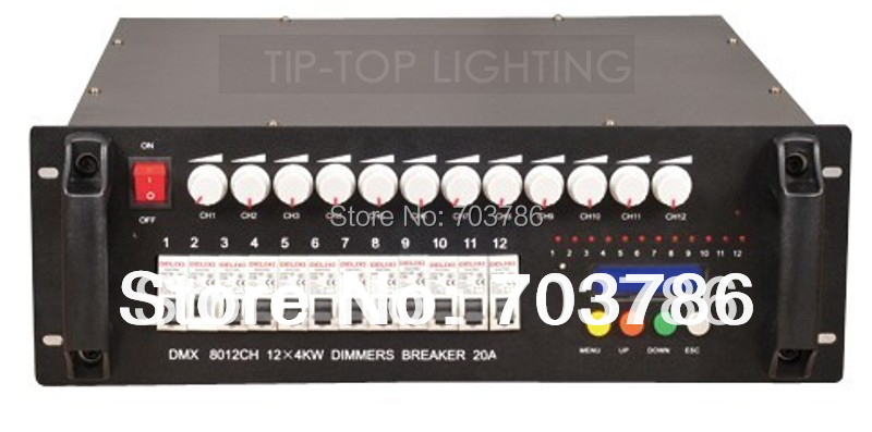 Wholesales 12Channel*4KW DMX Dimmer Controller,DMX 512 Controller,High Quality 1 Year Warranty DMX Light Controller,DMX Console(China (Mainland))