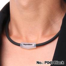 E P0451 S Noproblem ION BALANCE Titanium 2014 fashion Power Chain Necklace women(China (Mainland))