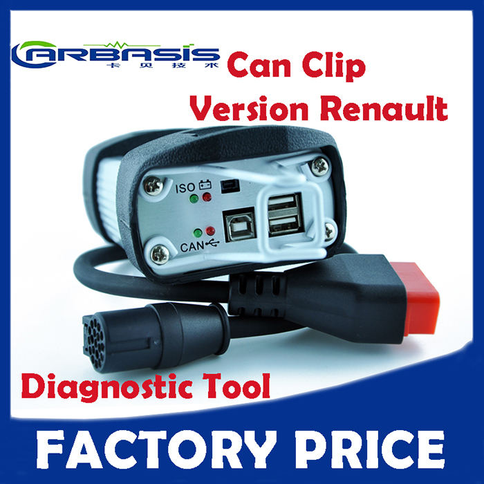 OBD2 Auto Diagnostic Renault Interface Can Clip V146 With Full Chip Software 146 Version(China (Mainland))
